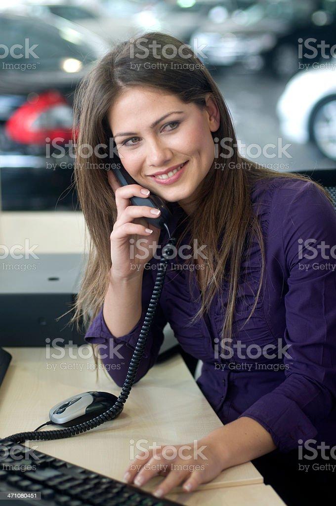 beautiful secretary royalty-free stock photo