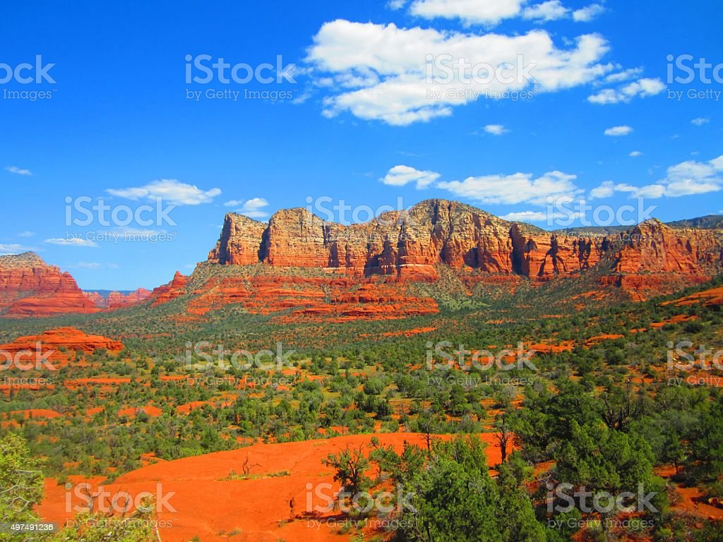 Beautiful Sedona Arizona Scenic Vista stock photo
