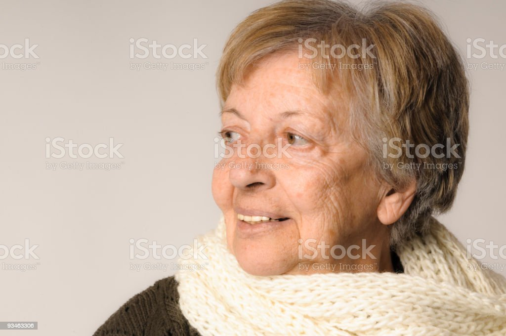 Beautiful senior lady royalty-free stock photo