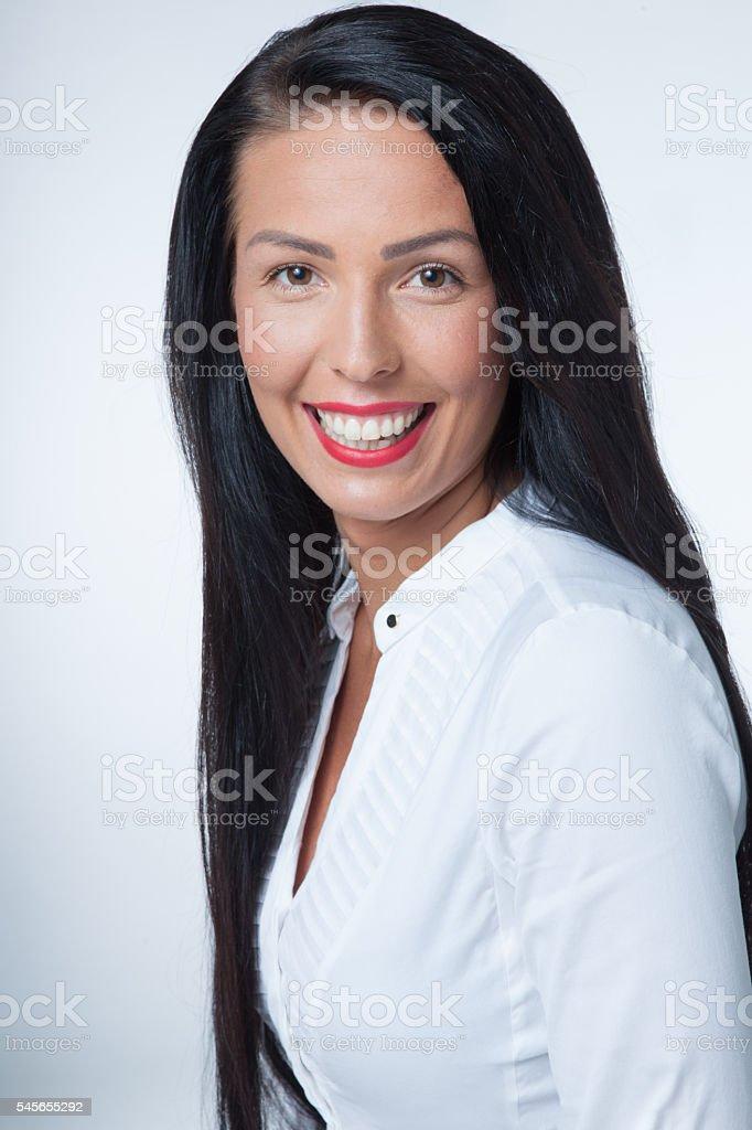 Beautiful senior manager stock photo