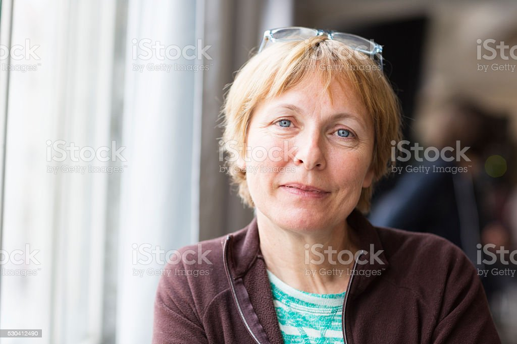 beautiful senior woman portrait happiness stock photo