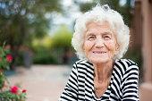 Beautiful Senior Woman Portrait Happy Expression
