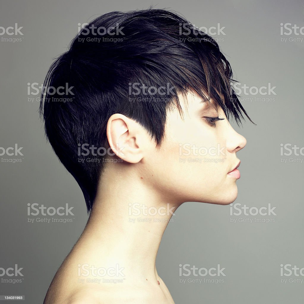 Beautiful sensual woman stock photo