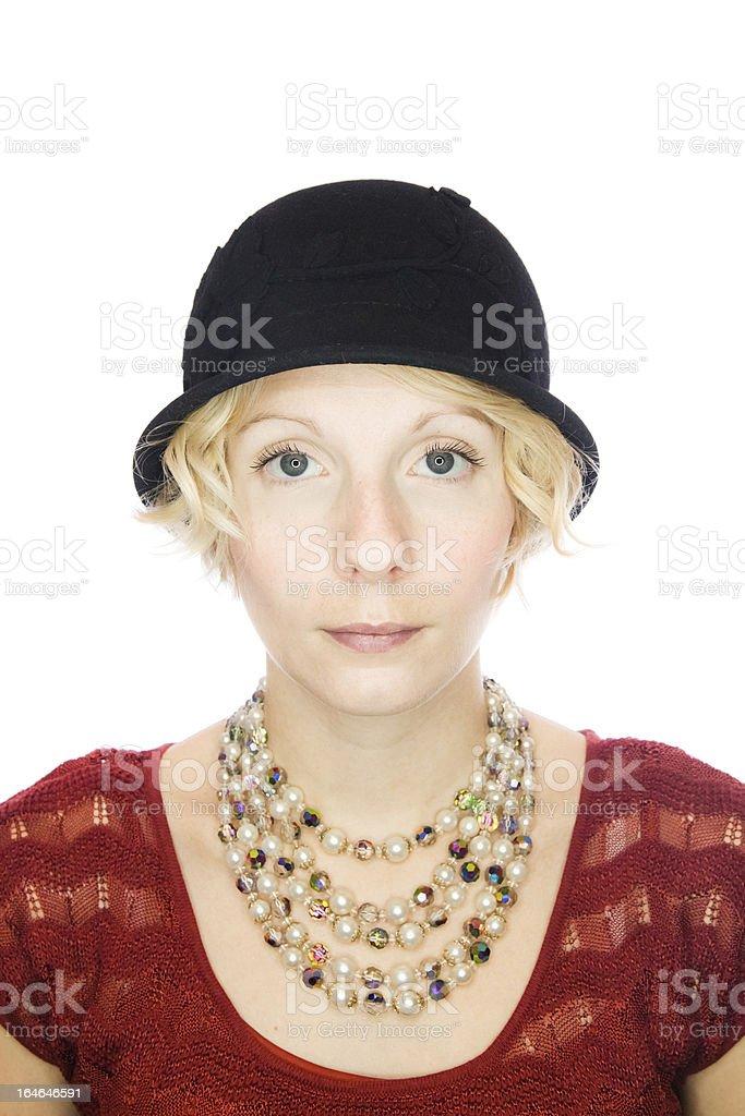 Beautiful serious lady portrait royalty-free stock photo