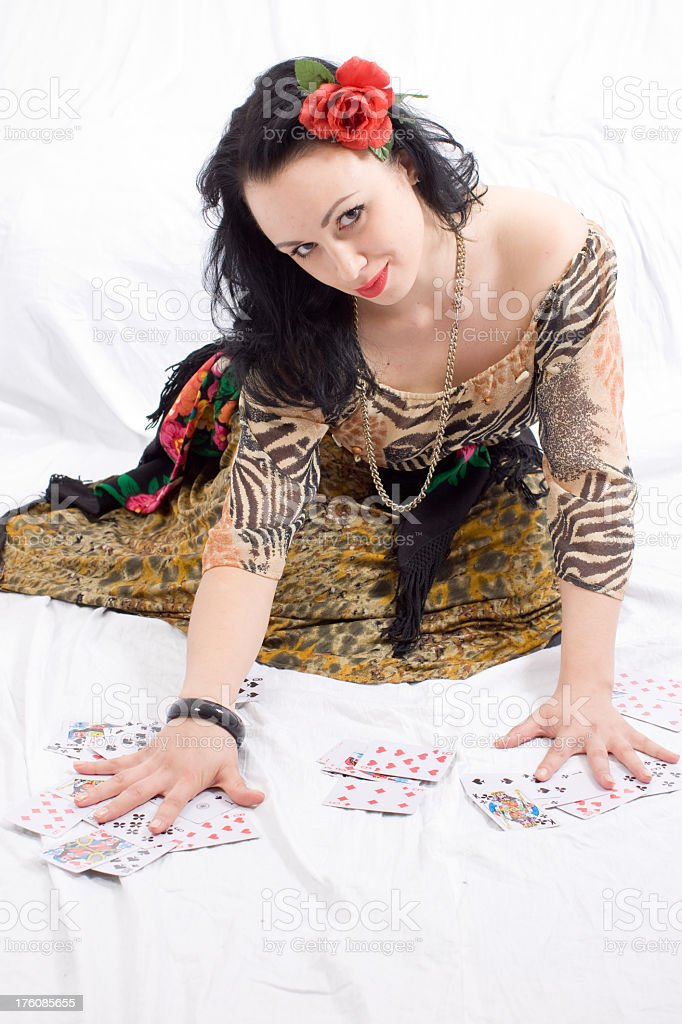 Beautiful Sexy Gypsy royalty-free stock photo