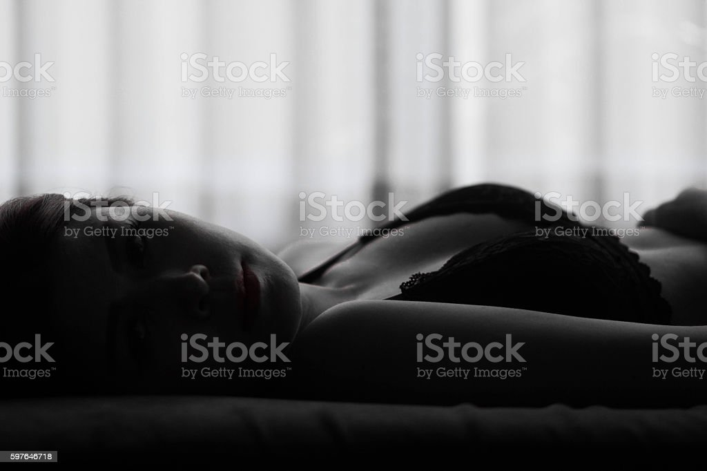 Beautiful sexy woman stock photo
