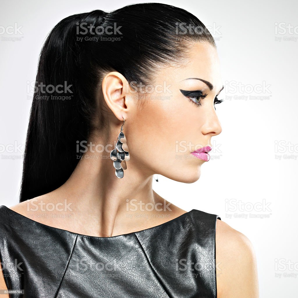 beautiful sexy  woman with glamour fashion makeup stock photo
