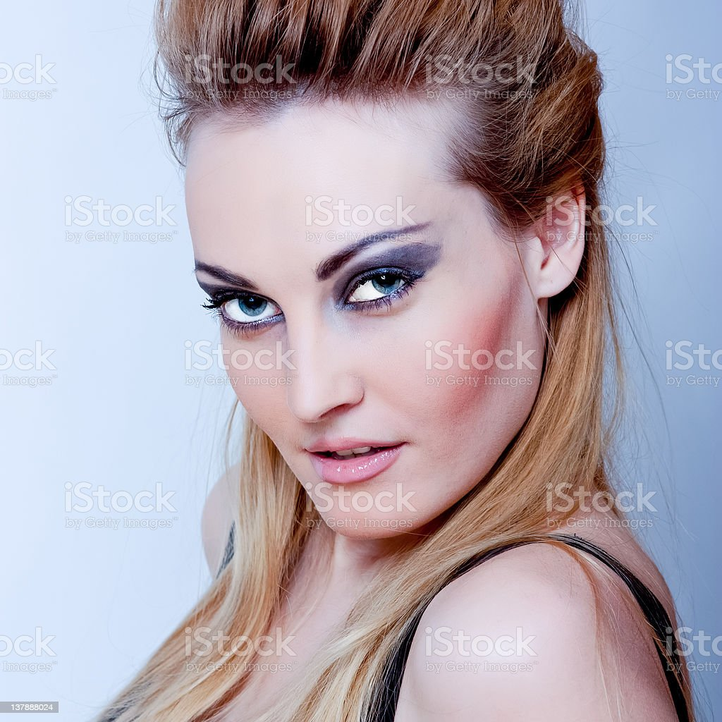 Beautiful sexy young blond woman royalty-free stock photo