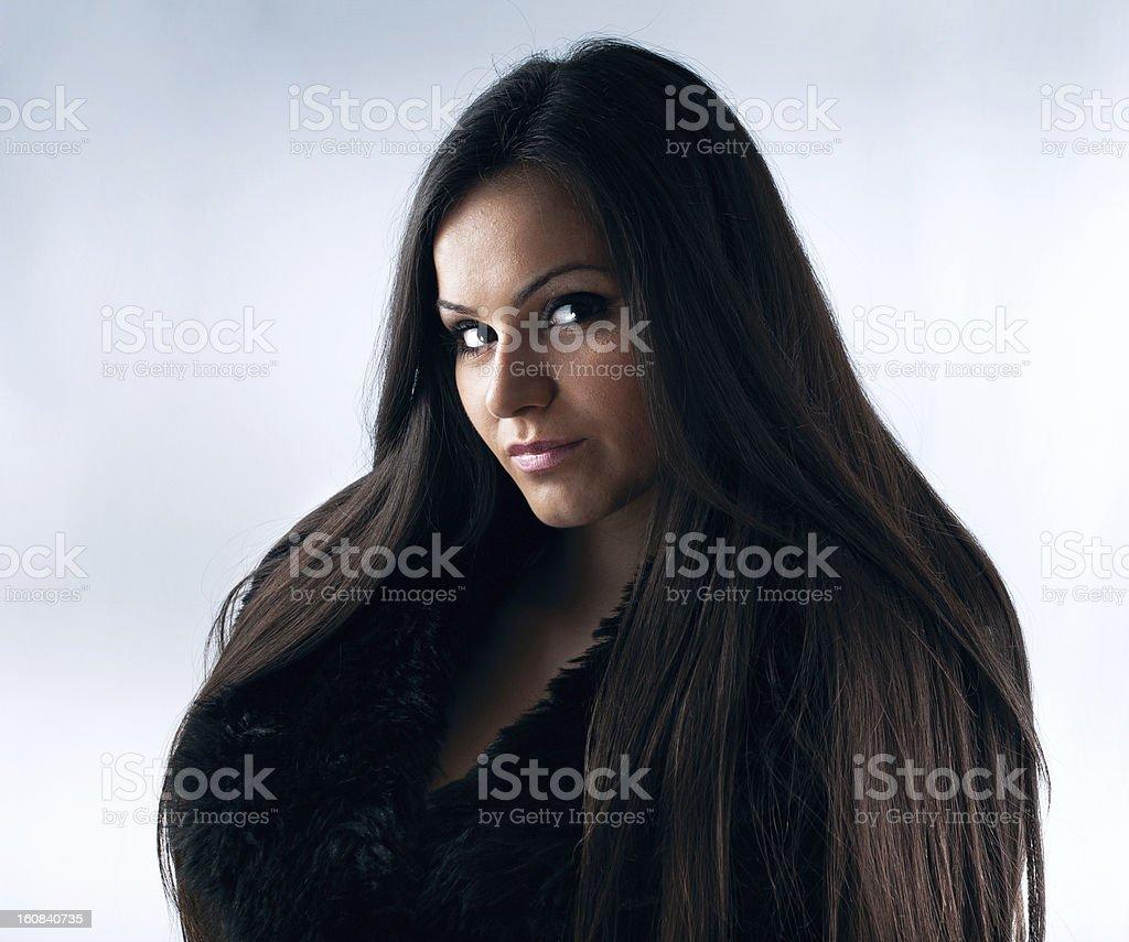 Hermosa sensual joven mujer tiro de cabeza foto de stock libre de derechos