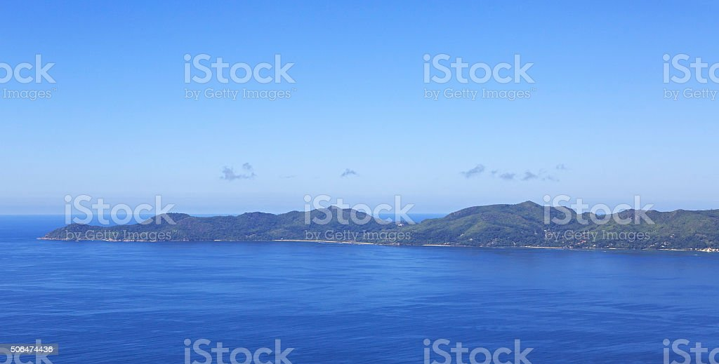Beautiful Seychelles in the Indian Ocean stock photo