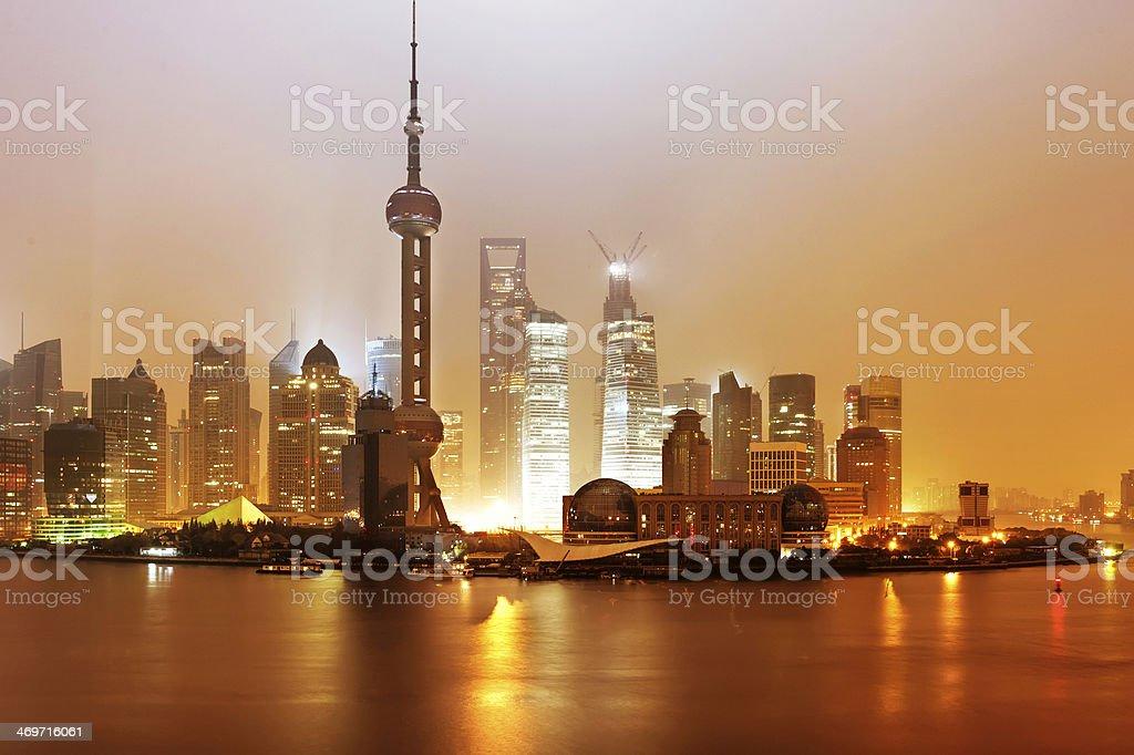 Beautiful Shanghai Pudong skyline stock photo