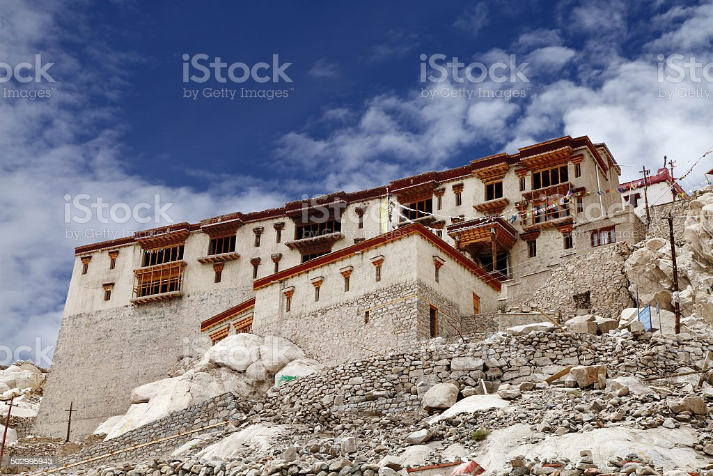 Beautiful Shey Palace, Leh stock photo