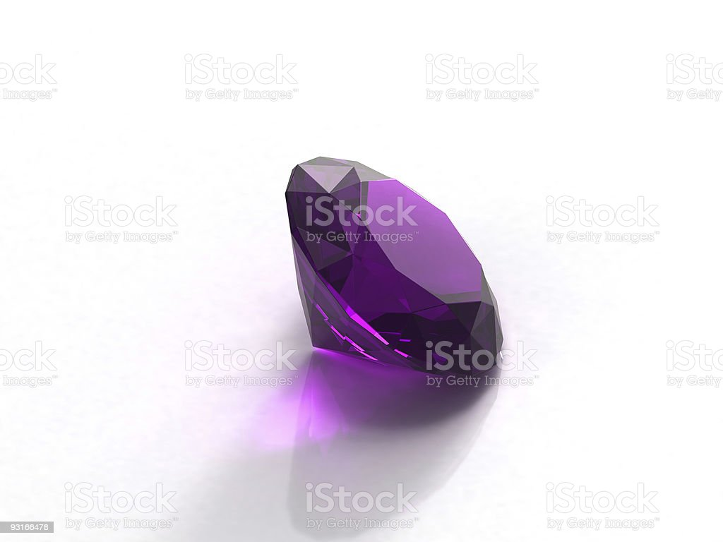 A beautiful shiny purple amethyst stock photo