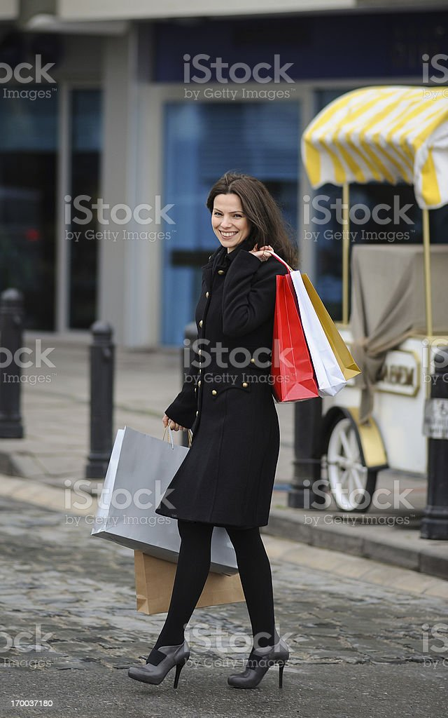 Beautiful shopper royalty-free stock photo