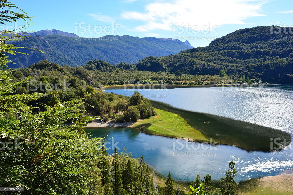 Beautiful shot of Los Alerces National Park, Argentina stock photo