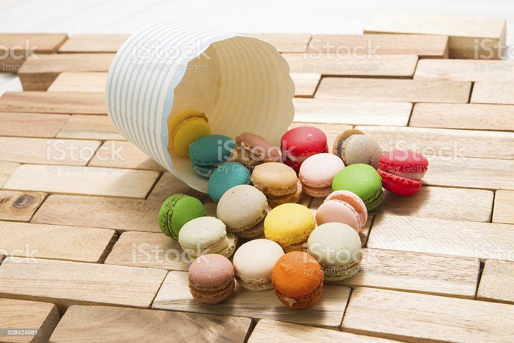 Beautiful shot of Macaron. royalty-free stock photo