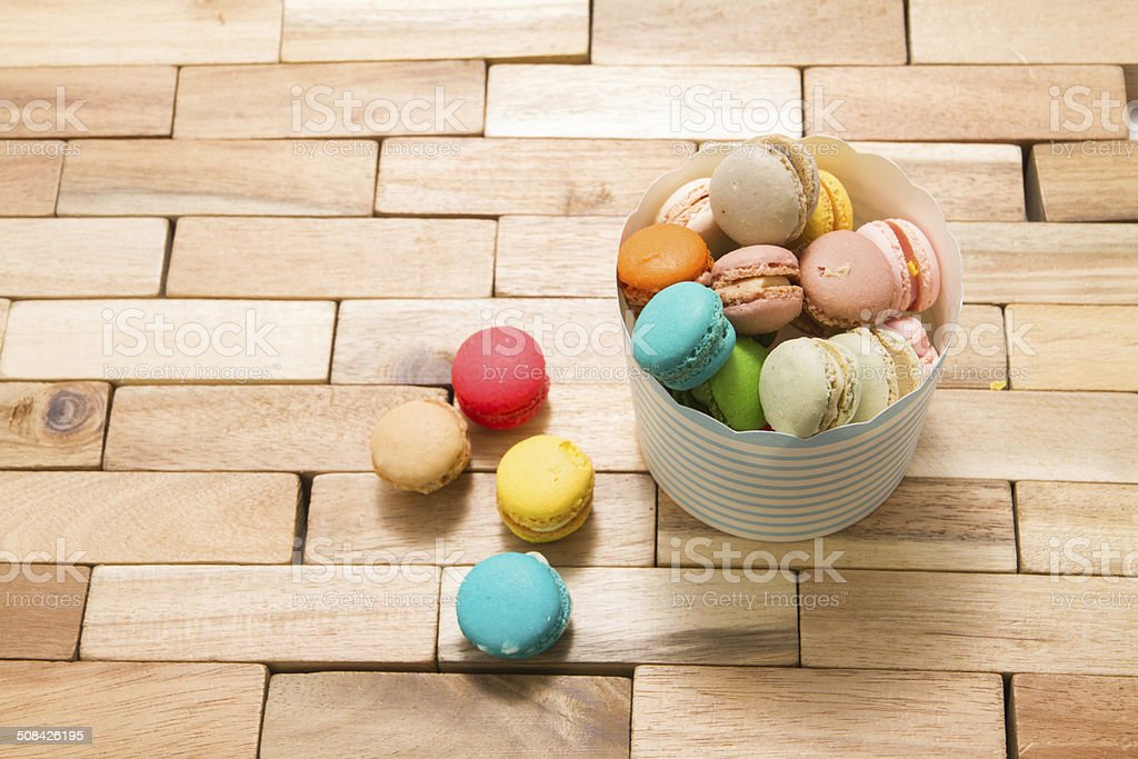 Beautiful shot of Macaron. royalty-free stock photo