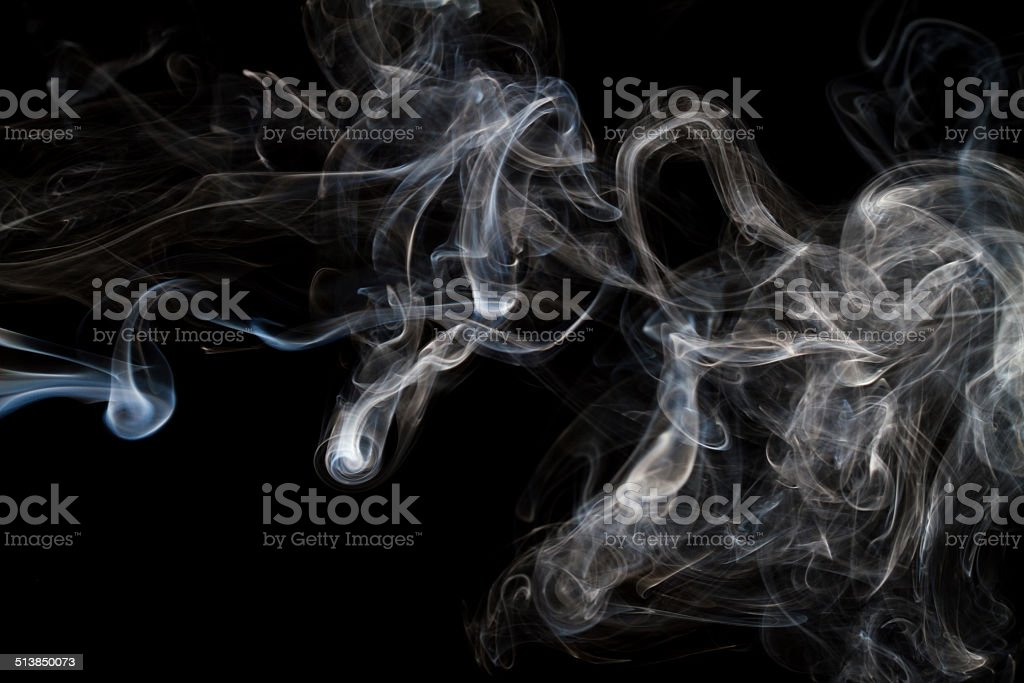 Beautiful shot of smoke photography with black background royalty-free stock photo