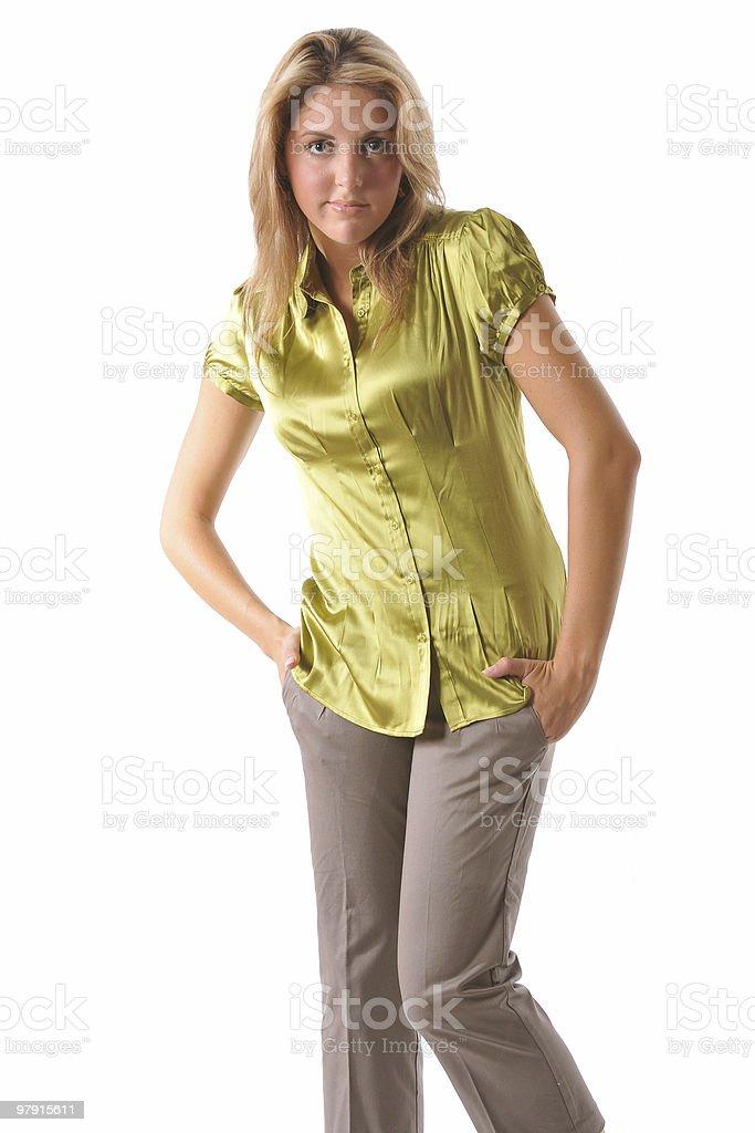 Beautiful shy woman royalty-free stock photo