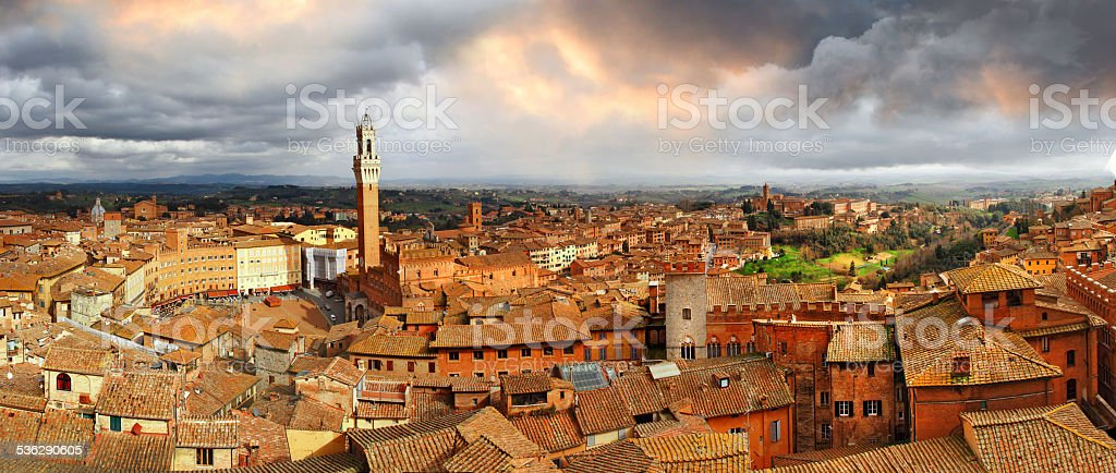 Beautiful Siena,Italy. stock photo