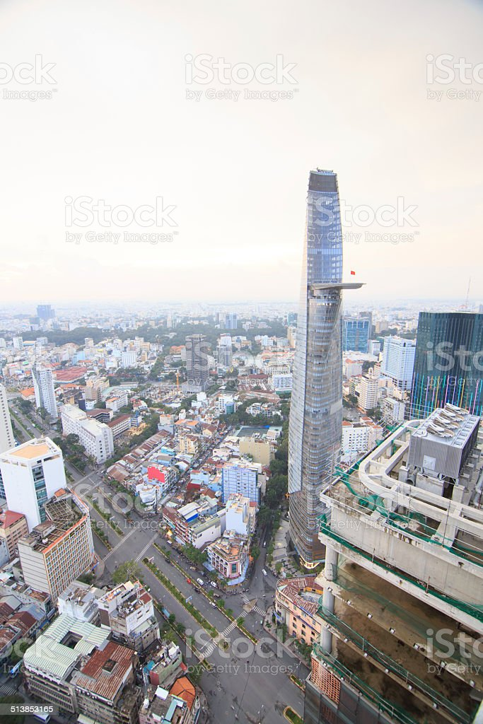 Beautiful sightseeing of HO CHI MINH city royalty-free stock photo