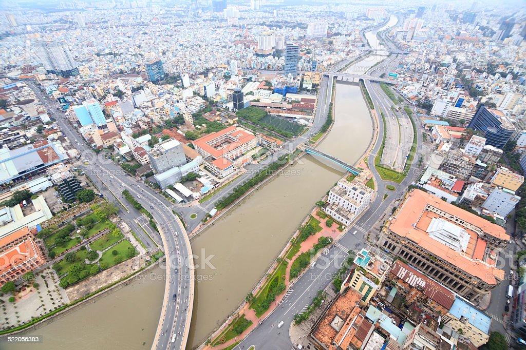 Beautiful sightseeing of HO CHI MINH city royalty-free stock photo