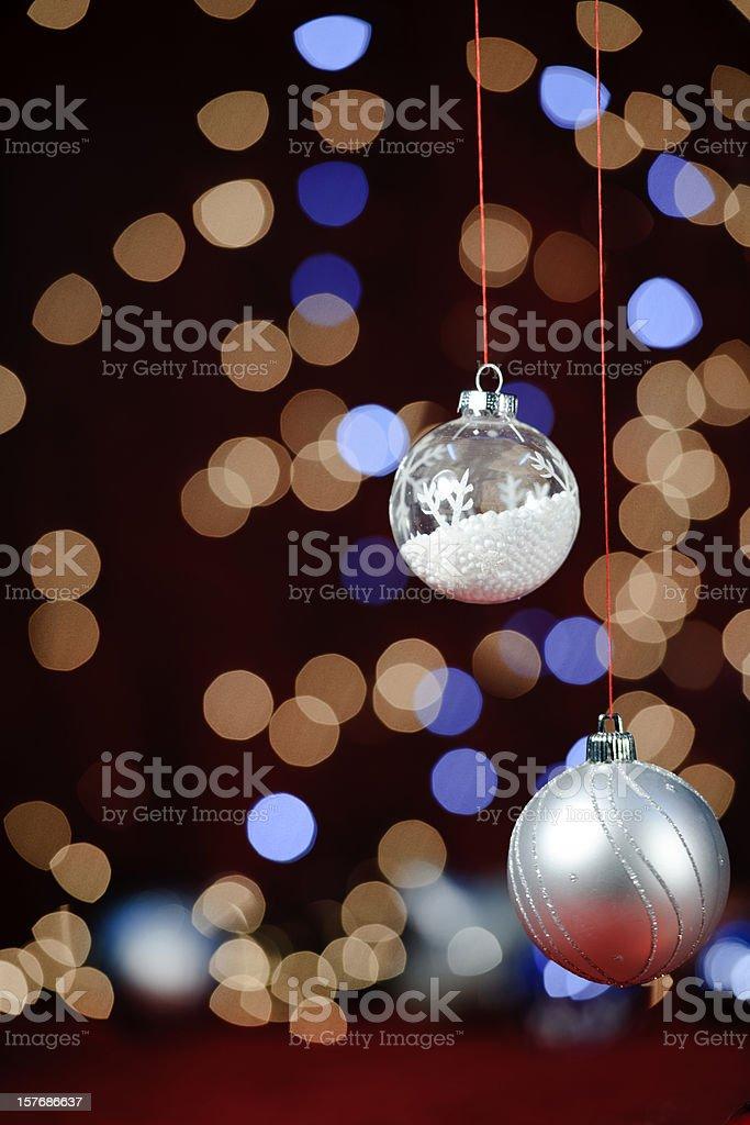 beautiful silver christmas balls royalty-free stock photo