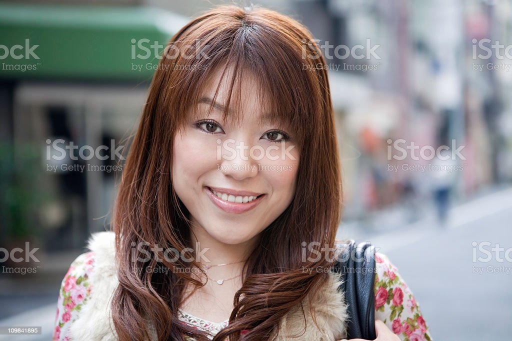 Beautiful Sincere Asian Woman royalty-free stock photo