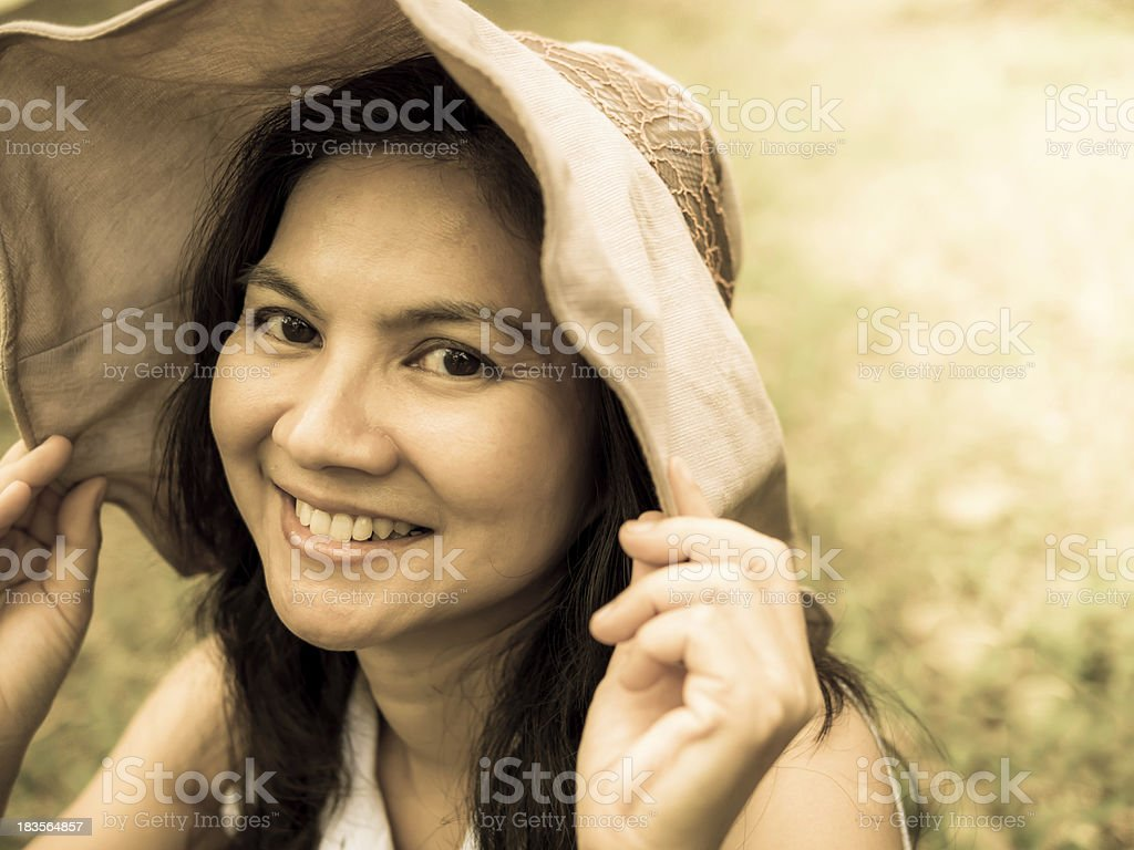beautiful  sincerely asian woman royalty-free stock photo