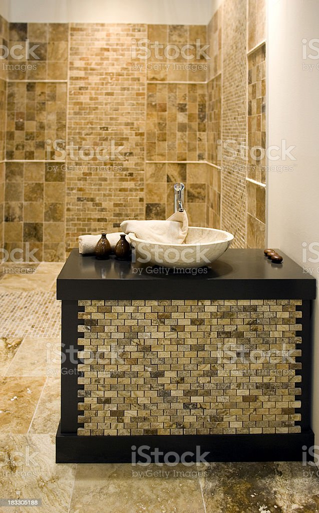 Beautiful Sink Display royalty-free stock photo