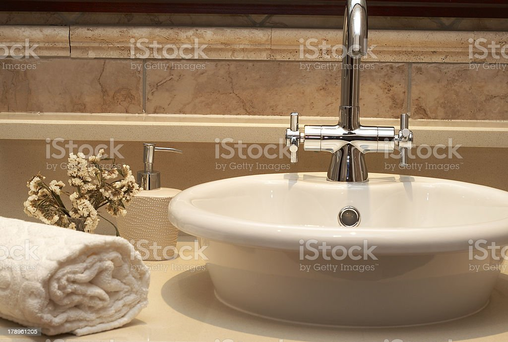 Beautiful sink in a bathroom royalty-free stock photo