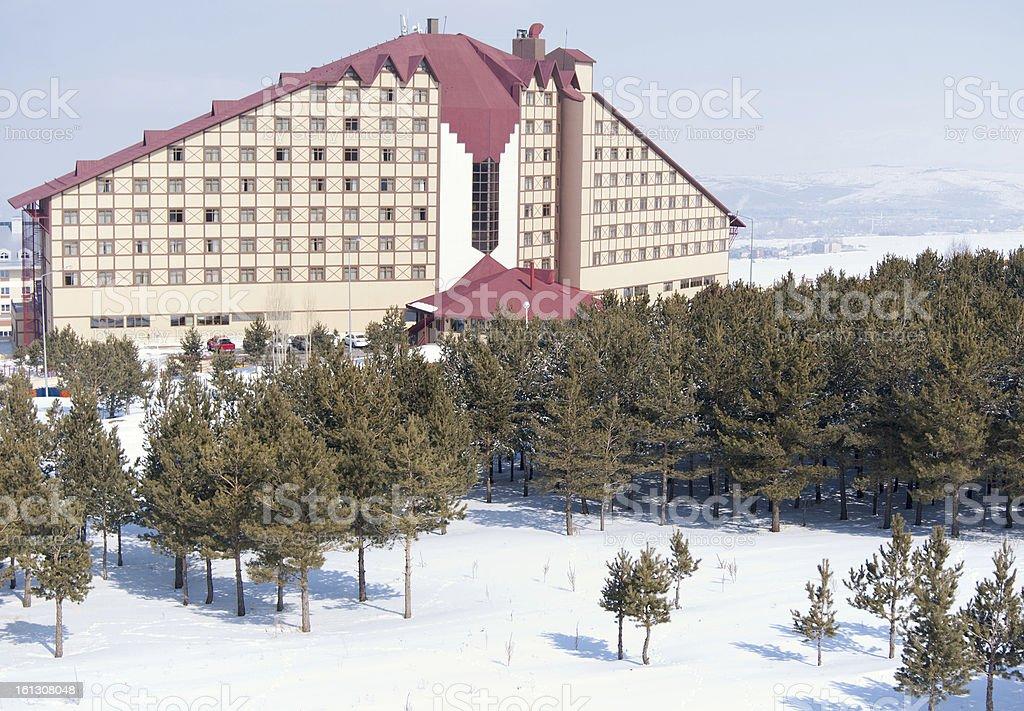 Beautiful ski resort winter view royalty-free stock photo