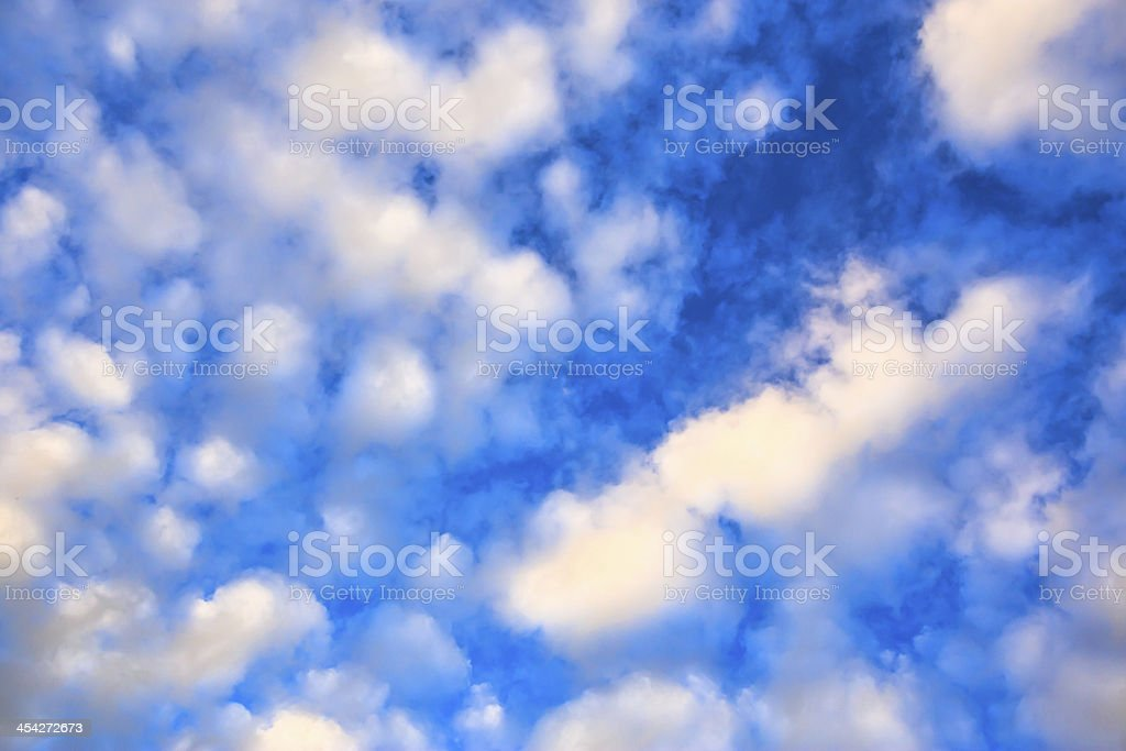 Beautiful sky and could of the natural royalty-free stock photo