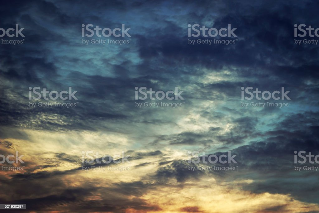 beautiful sky at sunset stock photo