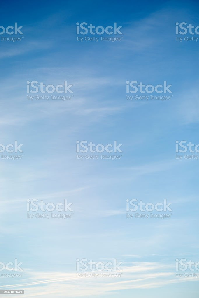 Beautiful sky with white cloud.  Background stock photo