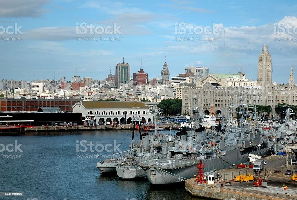 Beautiful skyline view of Montevideo, Uruguay stock photo