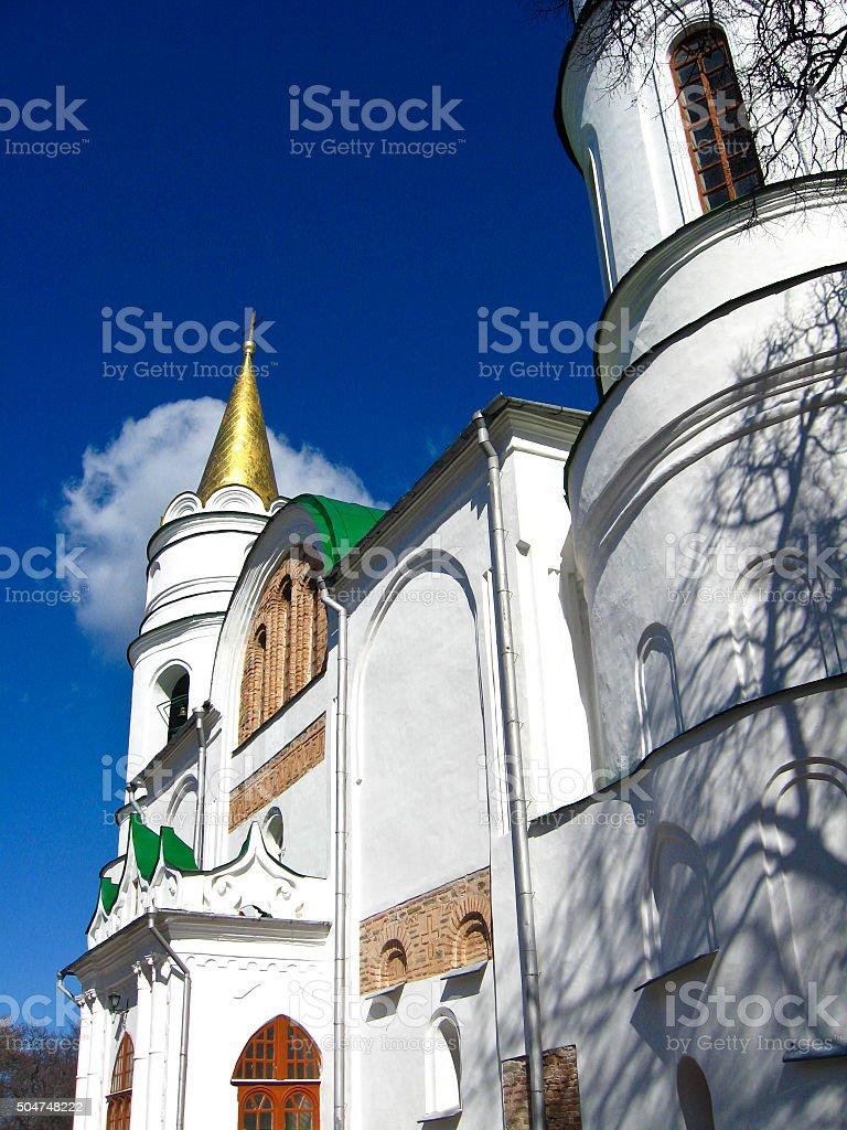 Beautiful slavonic church stock photo