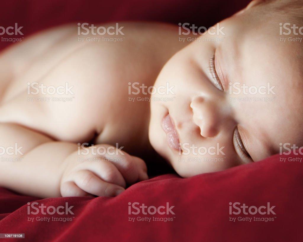 Beautiful Sleeping Baby royalty-free stock photo