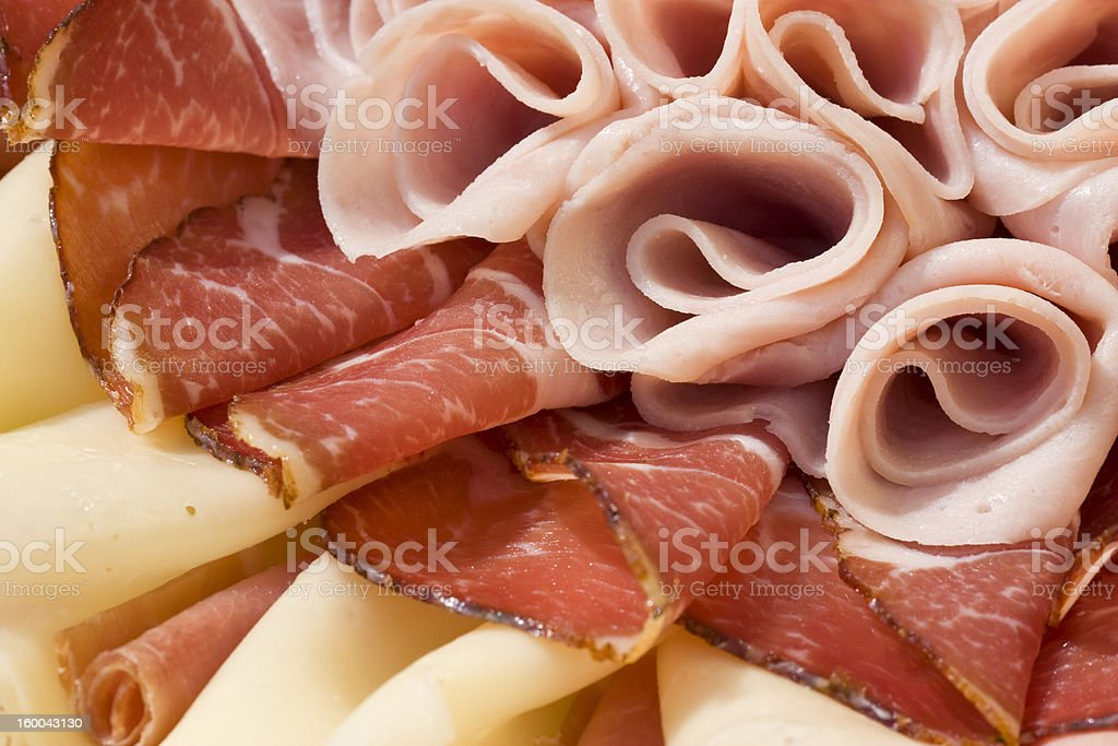 Beautiful sliced food arrangement royalty-free stock photo
