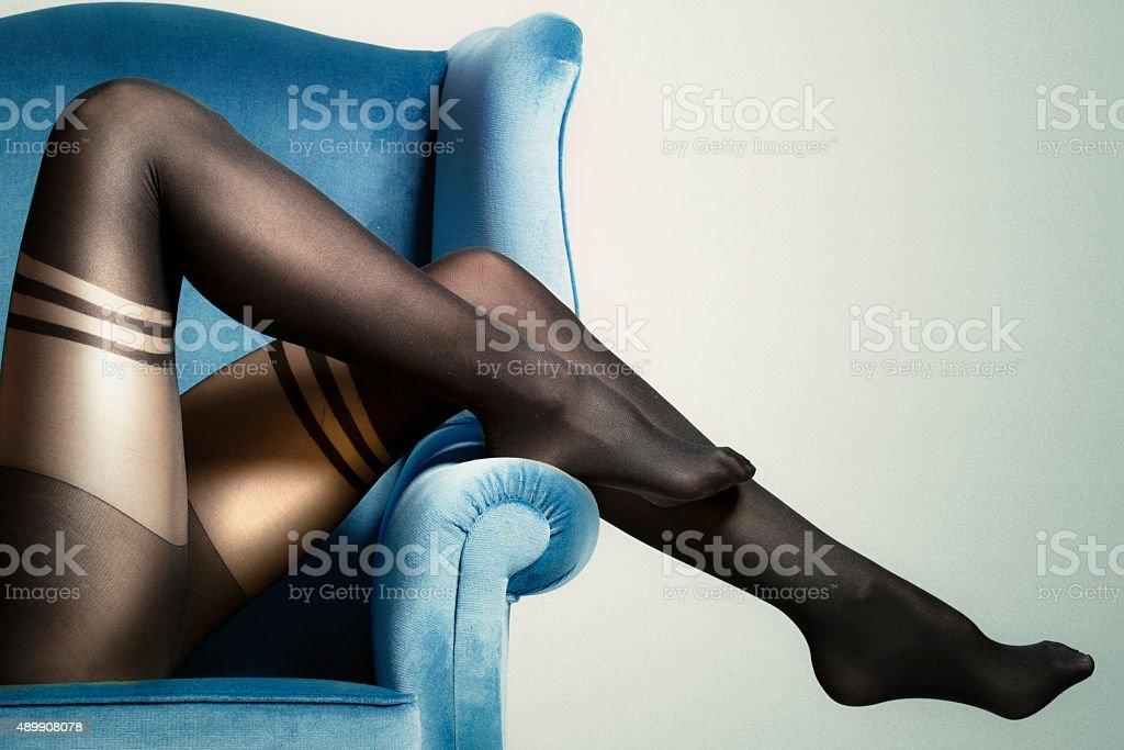 Beautiful slim legs stock photo