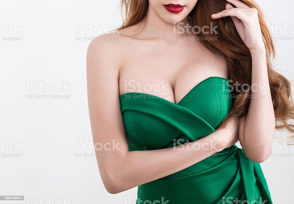 Beautiful slim woman body stock photo