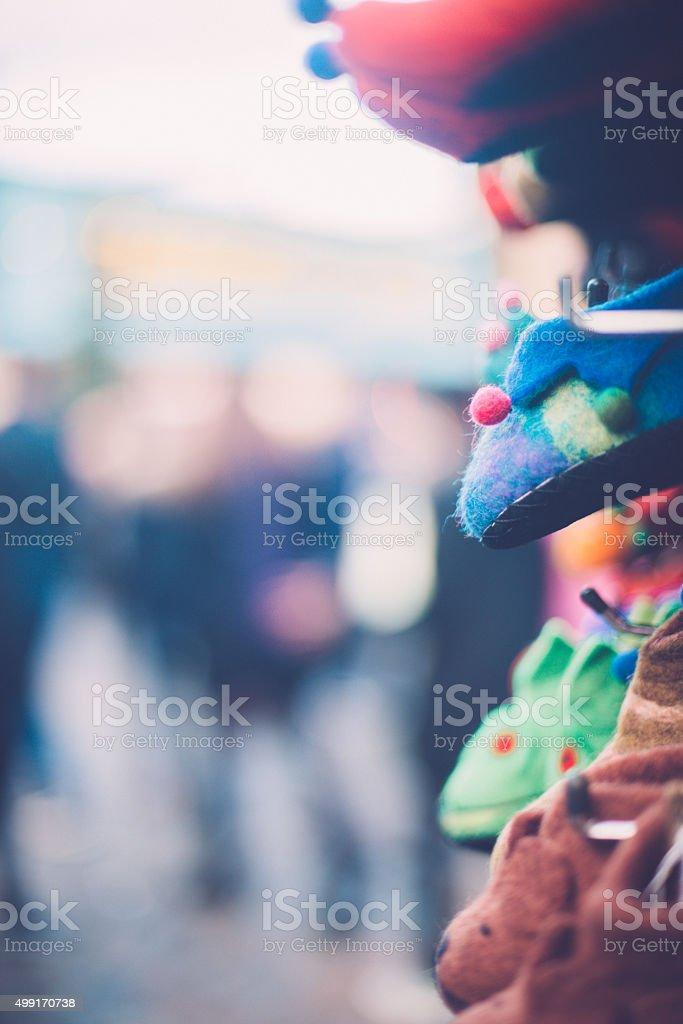 Beautiful Slippers, Camden Market, London, UK stock photo