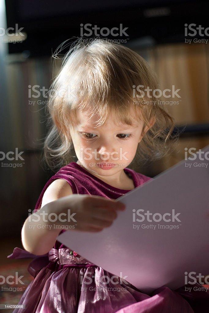 beautiful small girl royalty-free stock photo