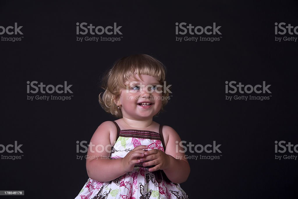 Beautiful smile of a little girl royalty-free stock photo