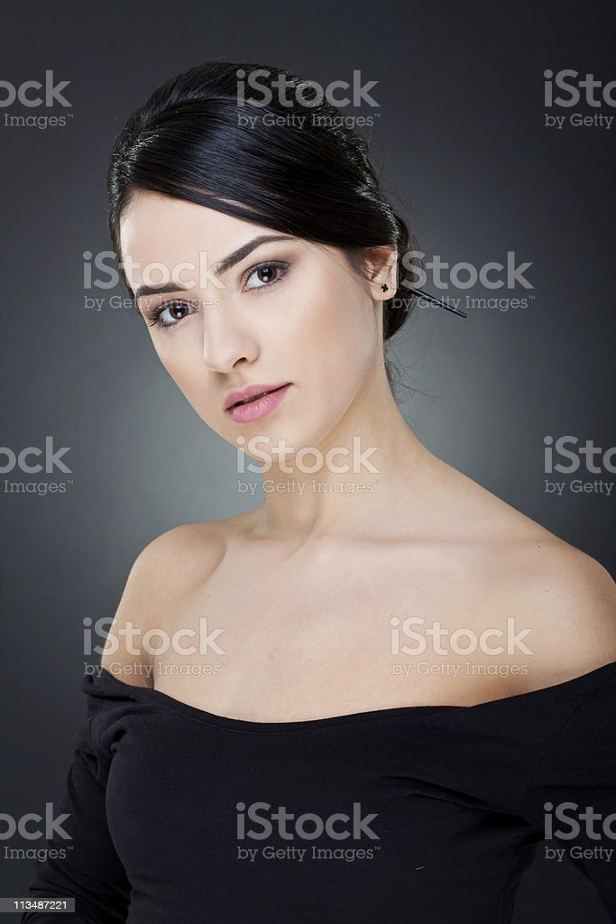beautiful smile of a woman stock photo