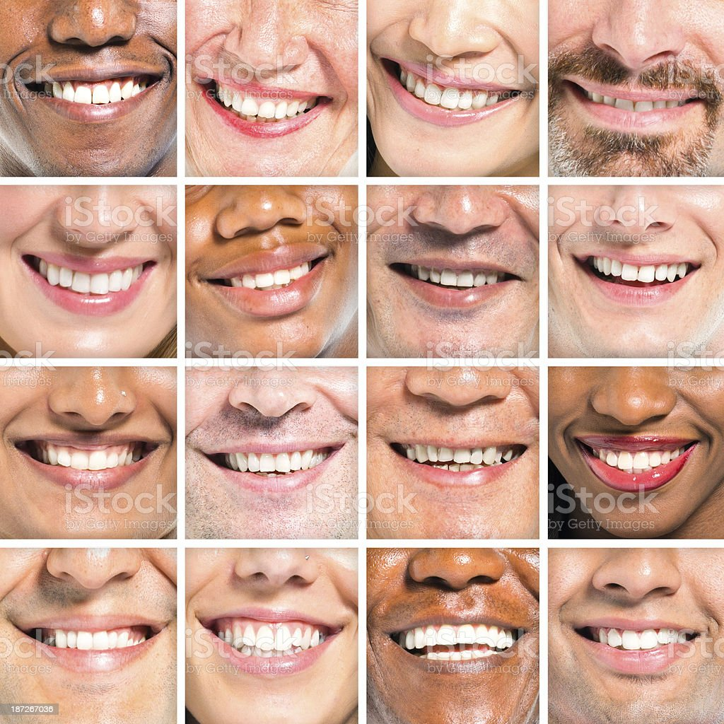 Beautiful Smile of Multi-Ethnic Group stock photo
