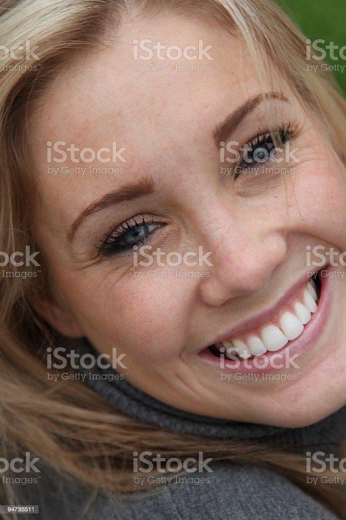 Hermosa sonrisa foto de stock libre de derechos