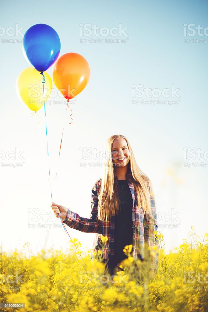 Beautiful smile reveals great happiness stock photo