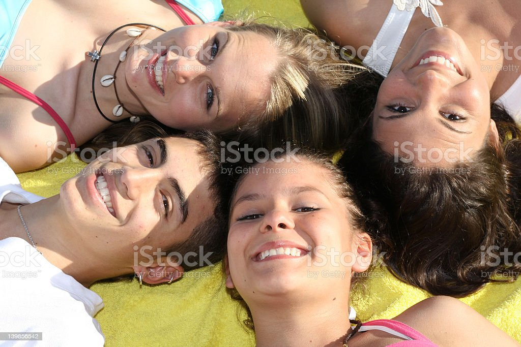 beautiful smiles(SEE BELOW for more group images) stock photo