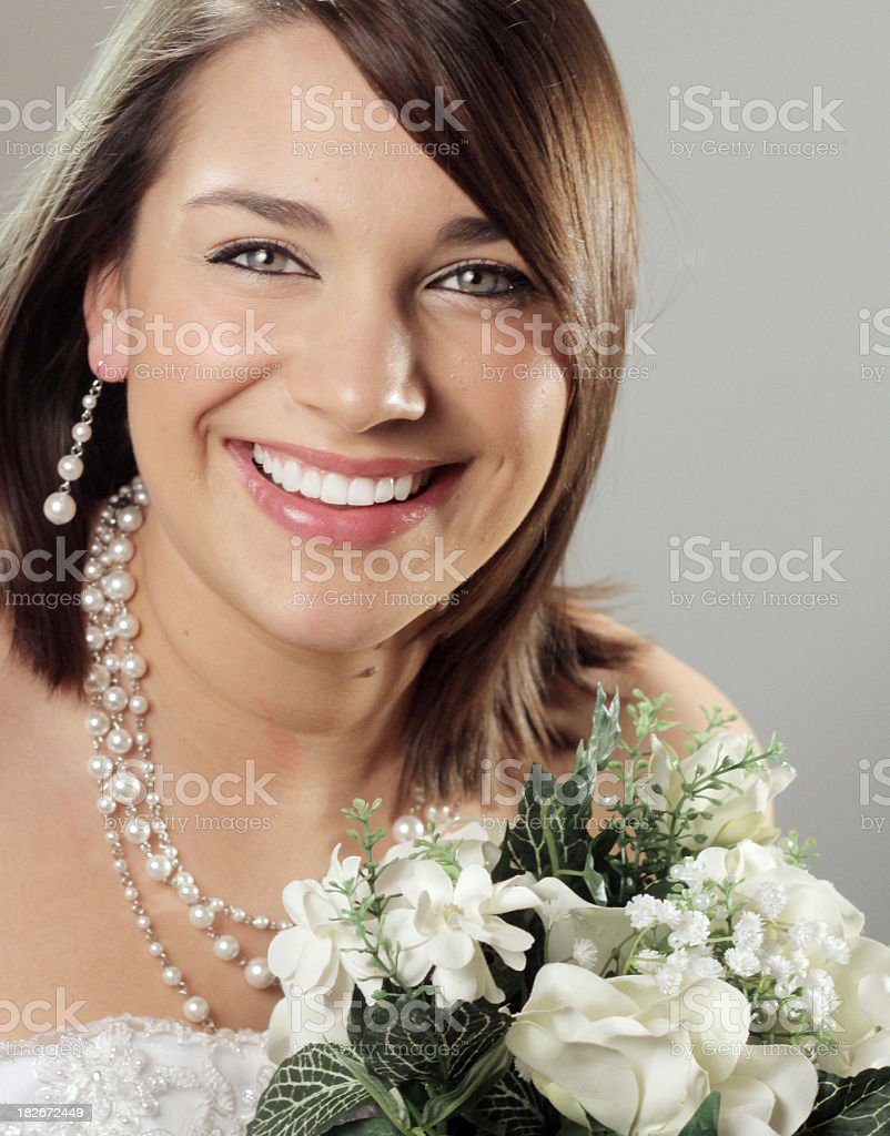 Beautiful Smiling Bride royalty-free stock photo